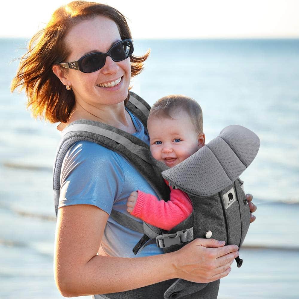 Ce Porte Bébé Dorsal procure un bien-être pour le bébé et pour le porteur.