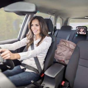 OMorc Miroir Auto Bébé renvoie directement le reflet de votre enfant dans le rétroviseur intérieur de votre véhicule