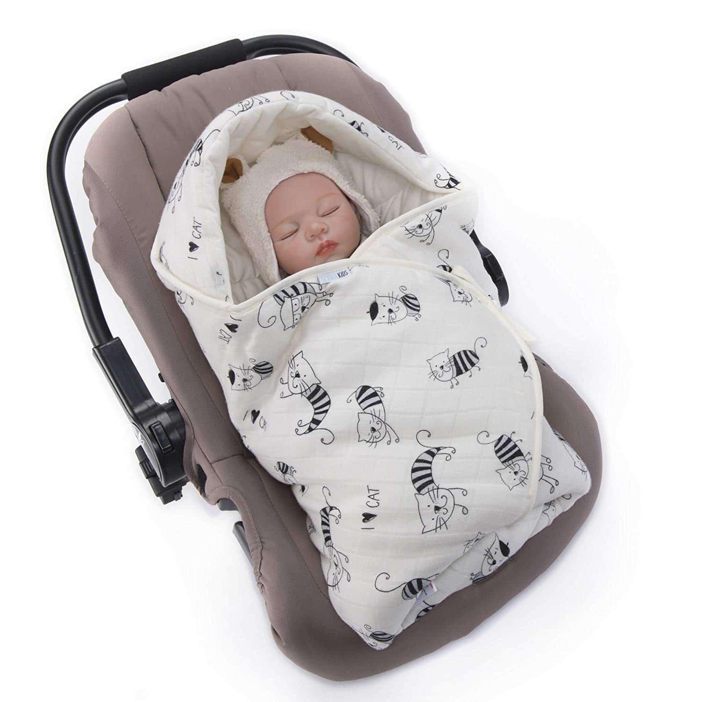 Couverture enveloppante pour emmener bébé en toute sérénité