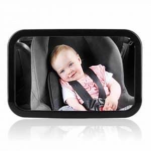 Ce Rétroviseur Surveillance Bébé comporte des bretelles réglables avec double fixation