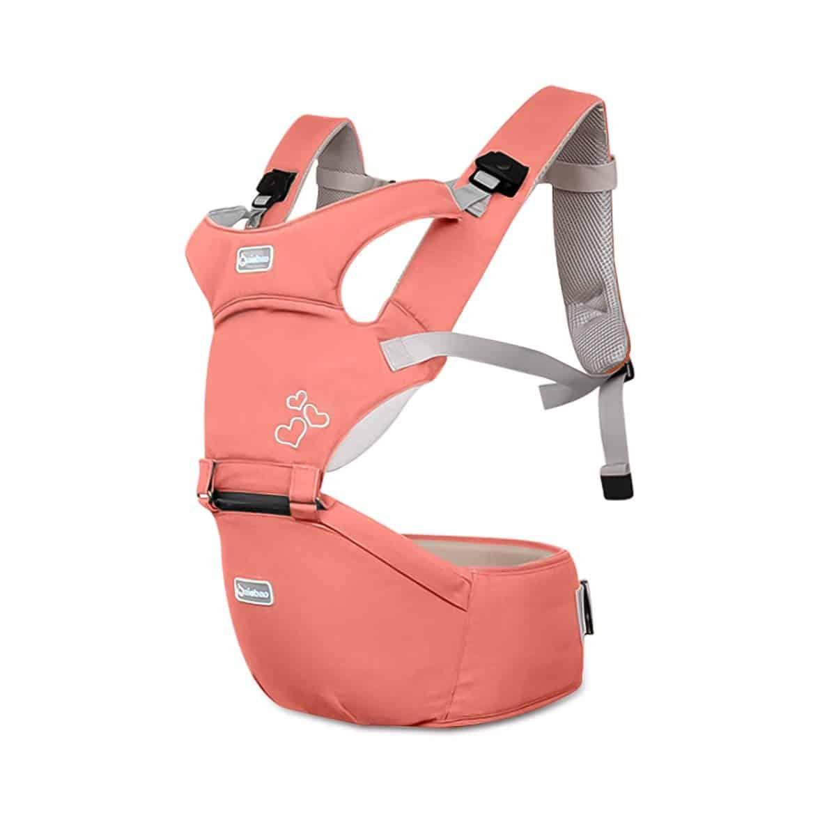 Ce modèle de Sonarin permet de prendre bébé dans les bras sans que cela ne pèse pour le porteur.