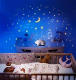 Pabobo Projecteur Musical d'Etoiles aide bébé à se sentir bien mieux