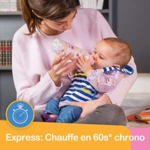 Le Tigex Chauffe-Biberon Maison Express permet aux parents de nourrir bébé au lait maternel