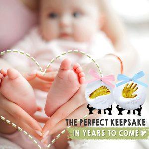 kit souvenir ornement avec empreinte de main pour bébé